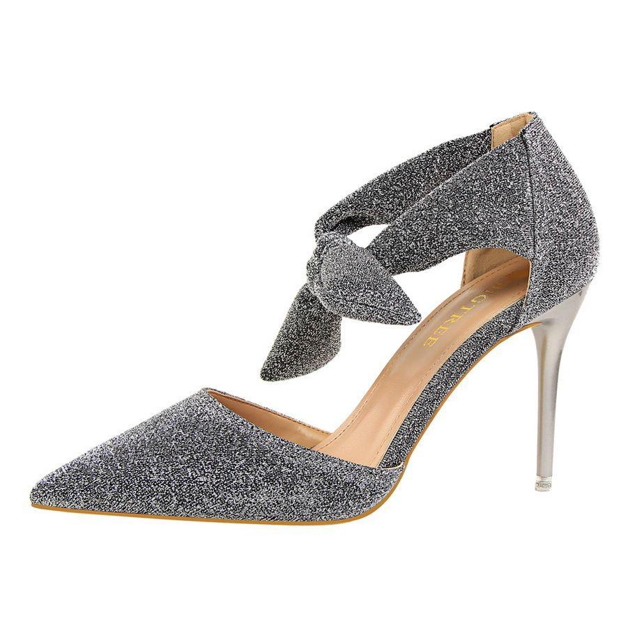 Women's Shoes High-Heels Pointed Banquet Nightclub Fine Thin Fashion with Shallow Mouth