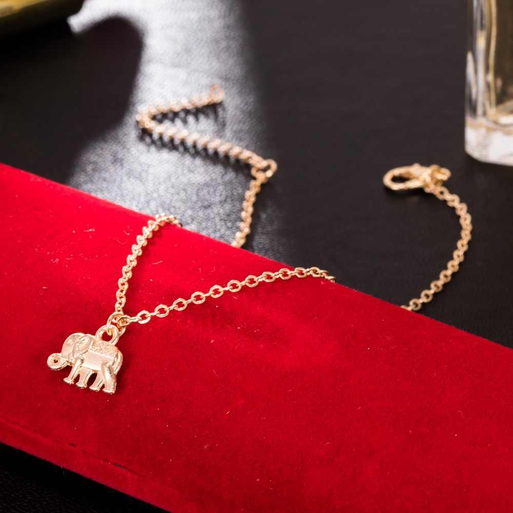 ห่วงโซ่เงินทิเบตชุบ Hollow ช้างรูปสัตว์ข้อเท้า Tornozeleira สร้อยข้อมือขา Pulsera สำหรับเครื่องประดับสตรี