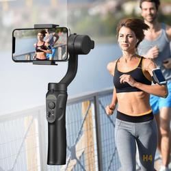 Outdoor-Halter 3-Achse Flexible H4 Handheld Gimbal Stabilisator für iPhone 11 9 8 Huawei Samsung Smart Telefon PTZ action Kamera