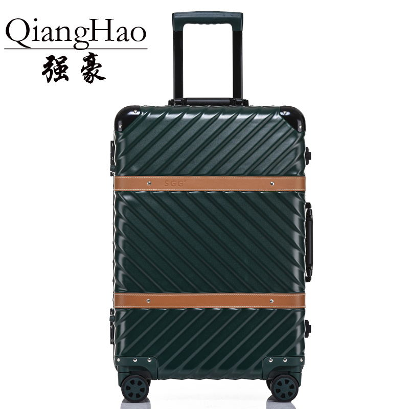 4 Size Vintage Travel Suitcase Rolling Luggage Leather Decoration Koffer Trolley TSA Lock Suitcases on wheels