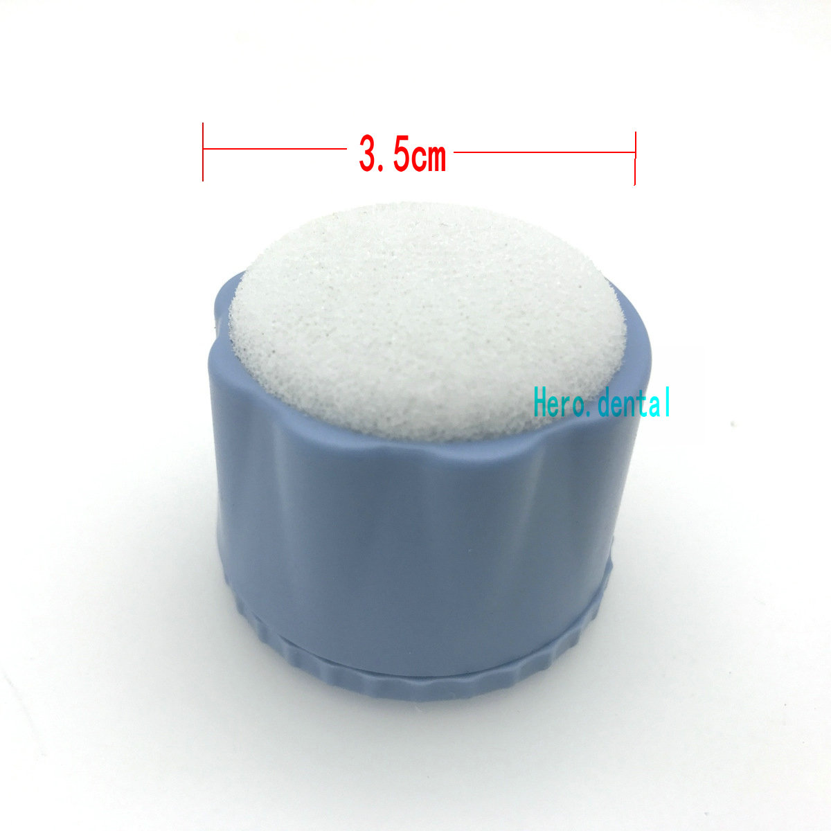 New Dental Round Endo Stand Cleaning Autoclavable Foam Sponges File Holder Blue