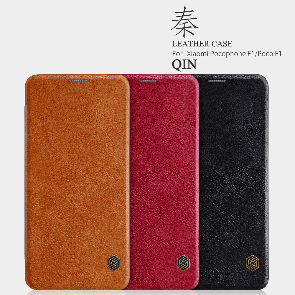 For xiaomi Pocophone F1 case NILLKIN vintage Qin smart wake up Flip Case For Xiaomi Poco F1 cover Wallet Flip Leather Case
