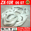 Hot Sale Fairings For Bodywork Kawasaki Ninja ZX 10R 06 07 Flat White 2006 2007 ZX