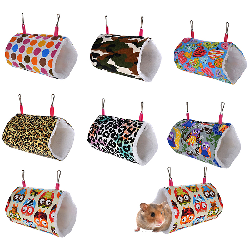 Pet Guinea Pig Bed Hamster Hammock Squirrel Rat Swing Nest Cages Small Animal Hanging Cave Hedgehog Soft Warm Tunnel