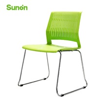 Ergonomic Green Office Chairs High Quality Plastic Seat Staff Chair Middle Back Chair for Cafe Home