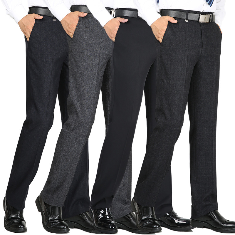 2019 VOMINT New Mens Casual Basic Pants Men Classic Business Trousers Mens Slim Fit Dress Winter Full Length Straight Skinny
