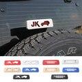 Chegada nova Moda JK & Face Frontal De Alumínio De Alta Luzes De Freio Posição Capa para Jeep Wrangler