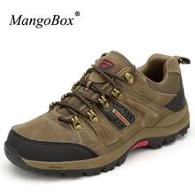 Mangobox треккинг Ботинки Для мужчин большой Размеры кроссовки для наружного Для мужчин хаки Trail Обувь Для мужчин нескользящей Альпинизм Обувь для мужчин