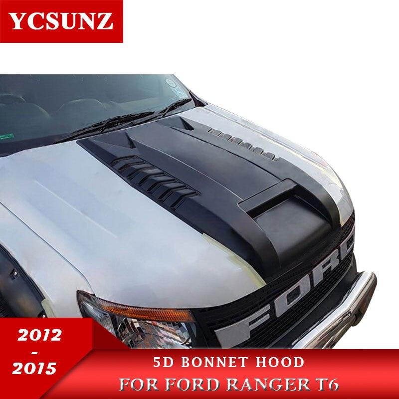 Bonnet Scoop Hood Car Accessories For Ford Ranger T6 2012 2013 2014 Wildtrak