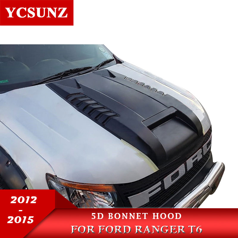 Bonnet Scoop Hood Car Accessories For Ford Ranger T6 2012 2013 2014 Wildtrak-in Body Kits from Automobiles & Motorcycles    1