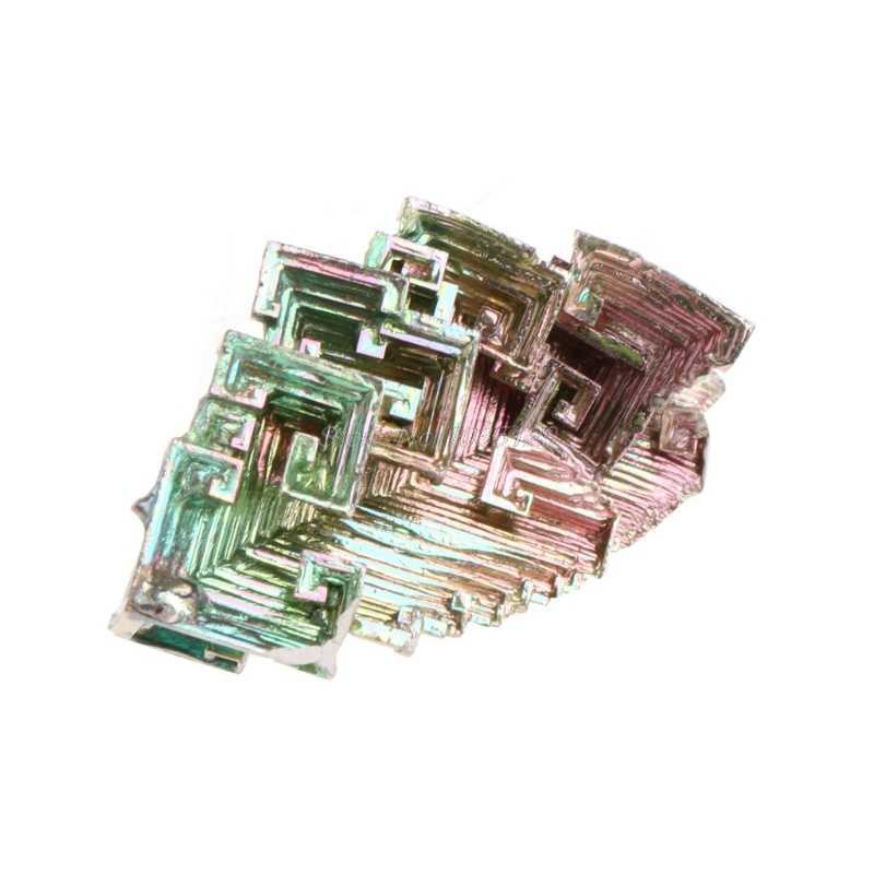 Cristales de bismuto de arco iris, 20g/50g, espécimen de Metal Mineral, venta al por mayor y triangulación de envíos