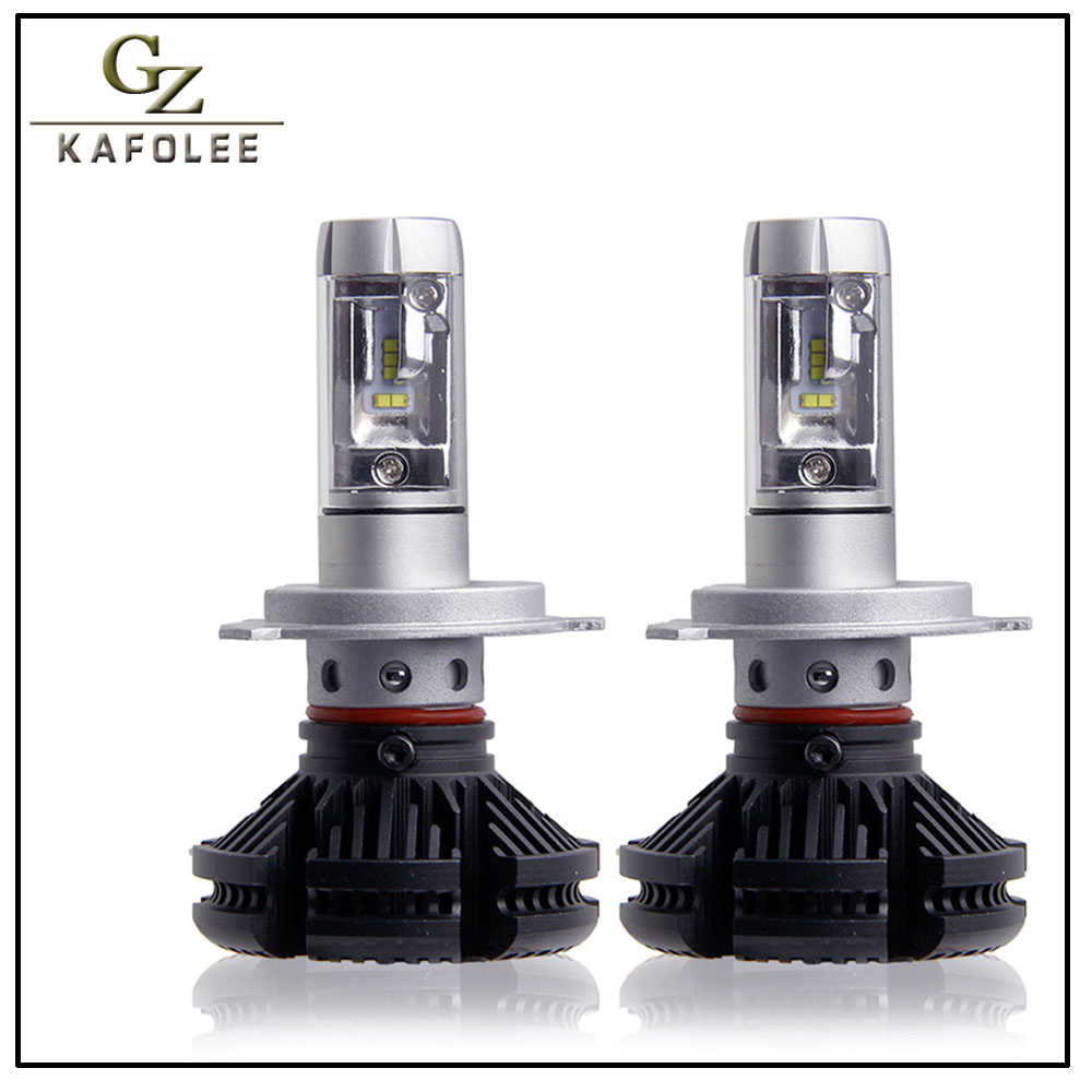 GZ KAFOLEE 2 Pcs Auto Headlight h4 led High Low Beam H1 H3 H7 6000LM H8 H9 H11 9005 9006 12V 24V LED Headlight Bulb Super Bright