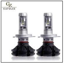 GZ KAFOLEE 2 Pcs אוטומטי פנס h4 led גבוהה נמוך Beam H1 H3 H7 6000LM H8 H9 H11 9005 9006 12V 24V LED פנס הנורה סופר מואר