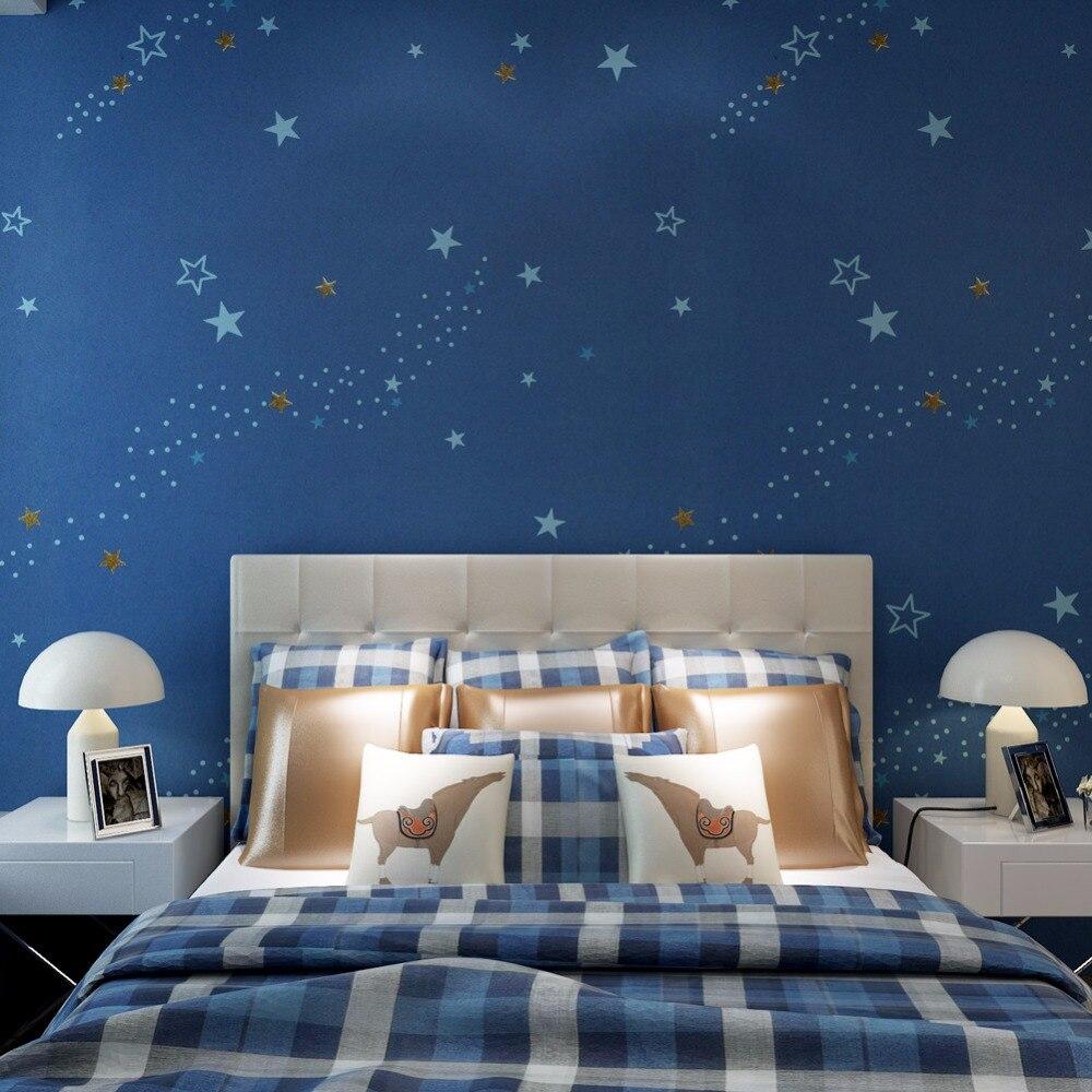 Aliexpress Com Starry Night Kids Bedroom Wallpaper Dark