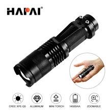 Mini LED Flashlight 4000LM Q5 T6 LED Torch Adjustable Focus Zoom Flash Light Lamp use 14500 and 18650 battery цена 2017