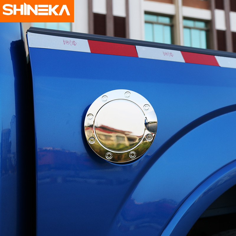 SHINEKA Chrome 3 Colors ABS Fuel Tank Cover Gas Door Cap Oil Door Cover Sticker for Ford F150 in Interior Mouldings from Automobiles Motorcycles