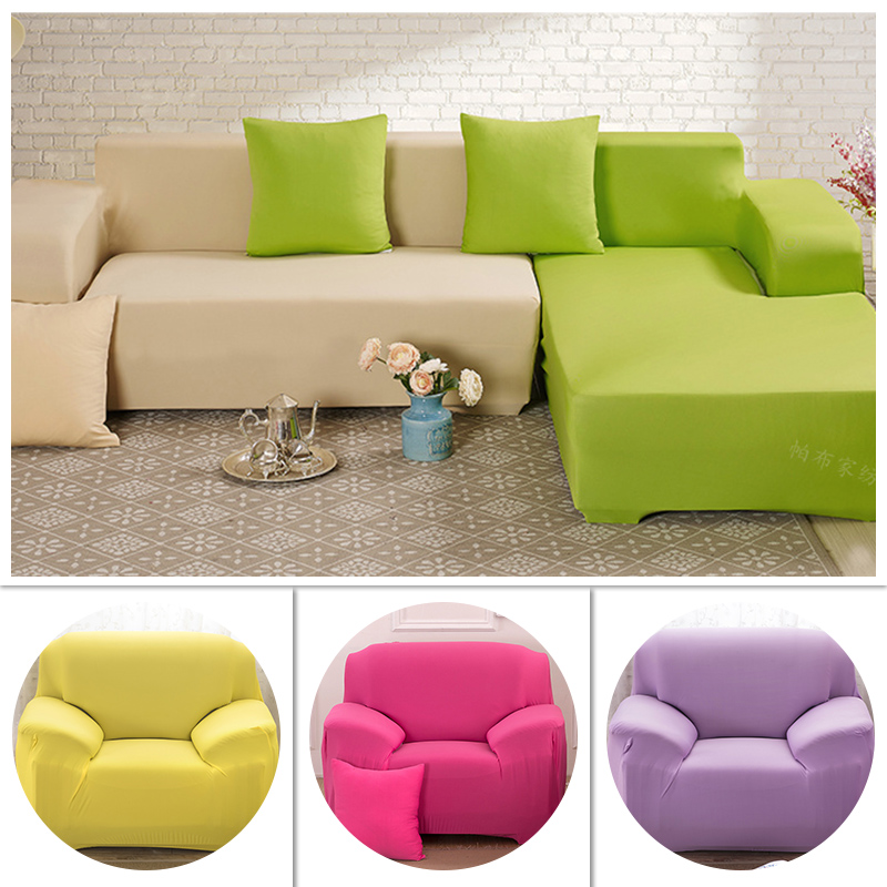 Solid color tight all inclusive universal elastic l shaped for Canape sofa cover