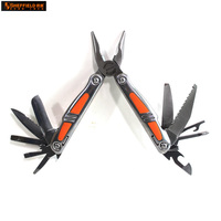Sheffield S041002 18 In 1 Multi Purpose Pliers Foldable Long Nose Pliers Wire Cutter Stripper Nail