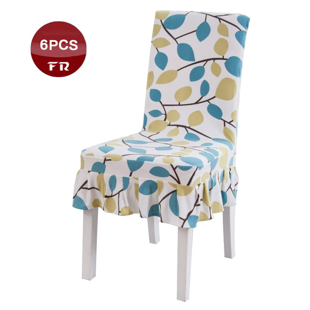 Wholesale 6PC Premium Quality 8 Fancy Printed Design Europe Style Spandex Chair  Slipcover Hotel Home Kitchen