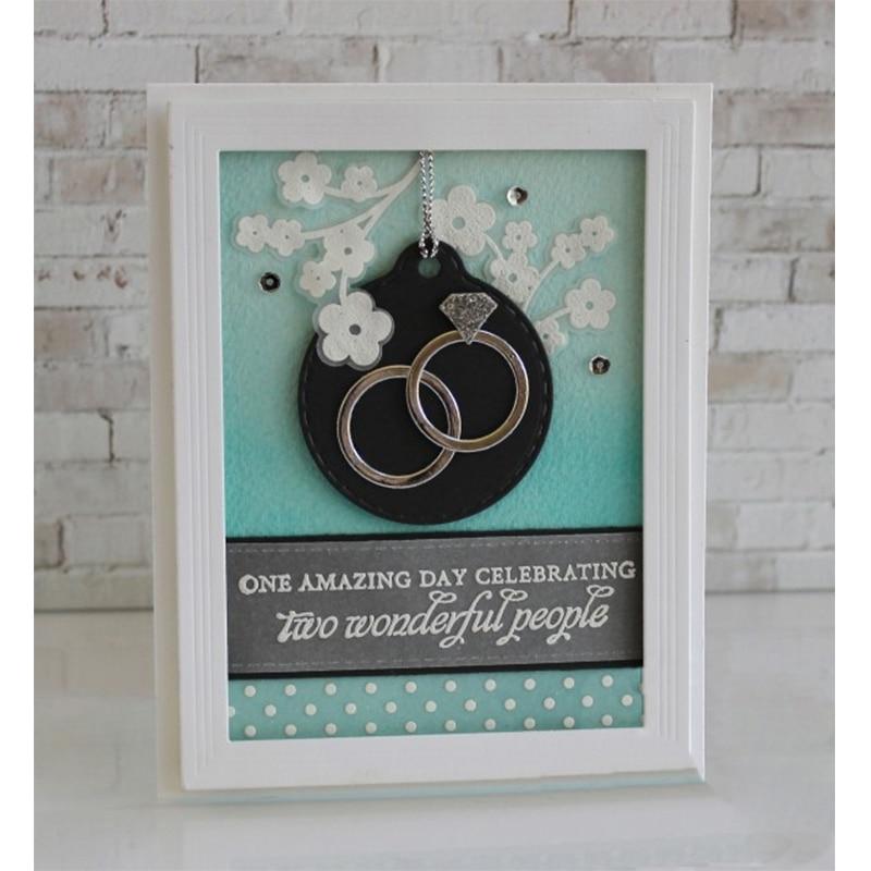 Diamond Ring Metal Die Cuts Cutting Dies For Scrapbooking Embossing Decorative Crafts DIY Wedding Paper Cards New 2018 Diecut