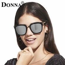 Донна женщины cat eye солнцезащитные очки luxury brand дизайнер металлический каркас очки негабаритных старинные большой площади солнцезащитные очки