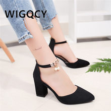 New Women Pumps Summer Fashion Sexy Pointed Toe Wedding Party High Heeled Shoes Woman pearl Sandals Zapatos Mujer no1(China)