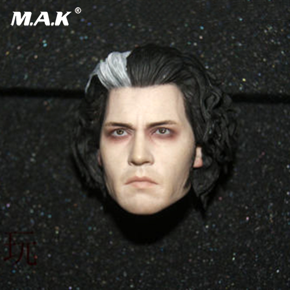 1/6 Head Sculpt Sweeney Barber Todd Head sculpt Carved Johnny Depp Head Model 1/6 Scale for 12