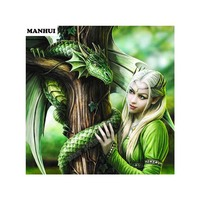 Diamond Embroidery 5D DIY Diamond Painting Caricature Dragon Girl Diamond Painting Rhinestone Cross Stitch Decoration AC113