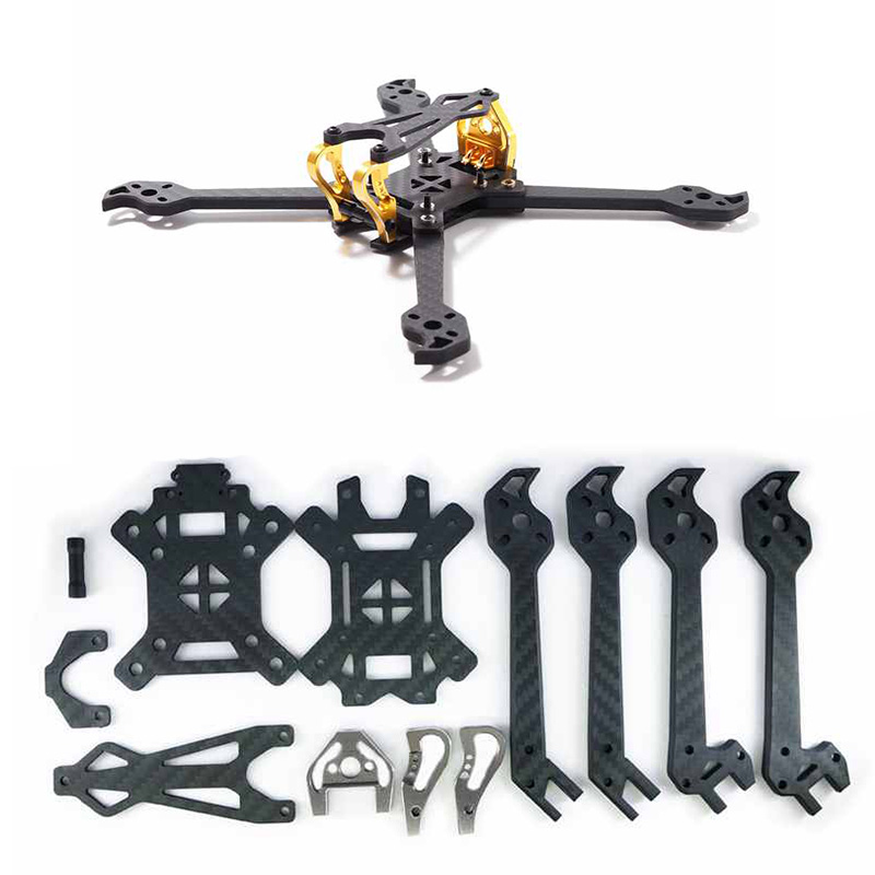 FLYWOO MACAW 220mm Frame Kit Carbon Fiber 5mm Arm Thickness Support Foxxer Arrow Micro Swift 5 Inch Propeller for Racing DroneFLYWOO MACAW 220mm Frame Kit Carbon Fiber 5mm Arm Thickness Support Foxxer Arrow Micro Swift 5 Inch Propeller for Racing Drone