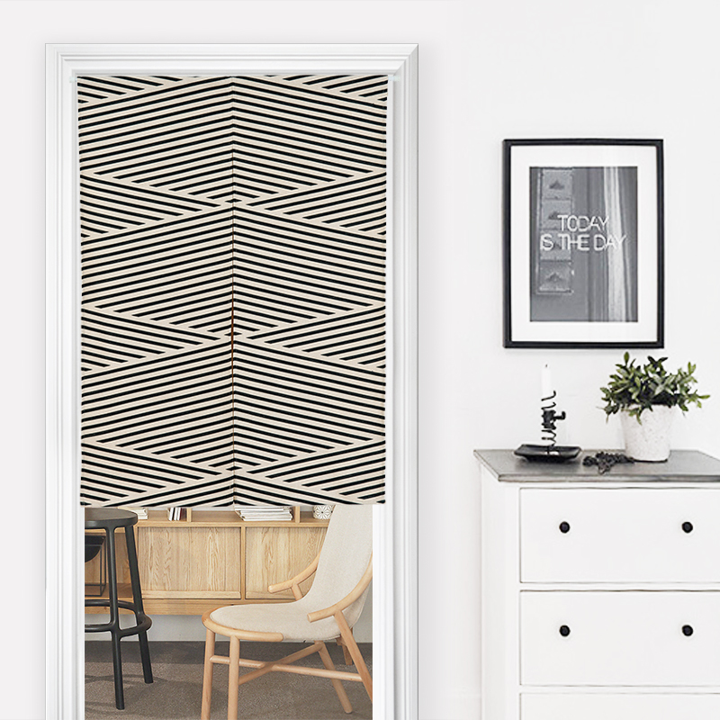 Beautifully Kitchen Door Curtains: Nice Curtains Short Curtains Beautiful Line Geometry