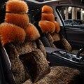 Piel especial fundas de asiento de coche Para Skoda Octavia 2 a5 a7 Fabia Superb Yeti Rápida Spaceback Joyste accesorios car styling car negro