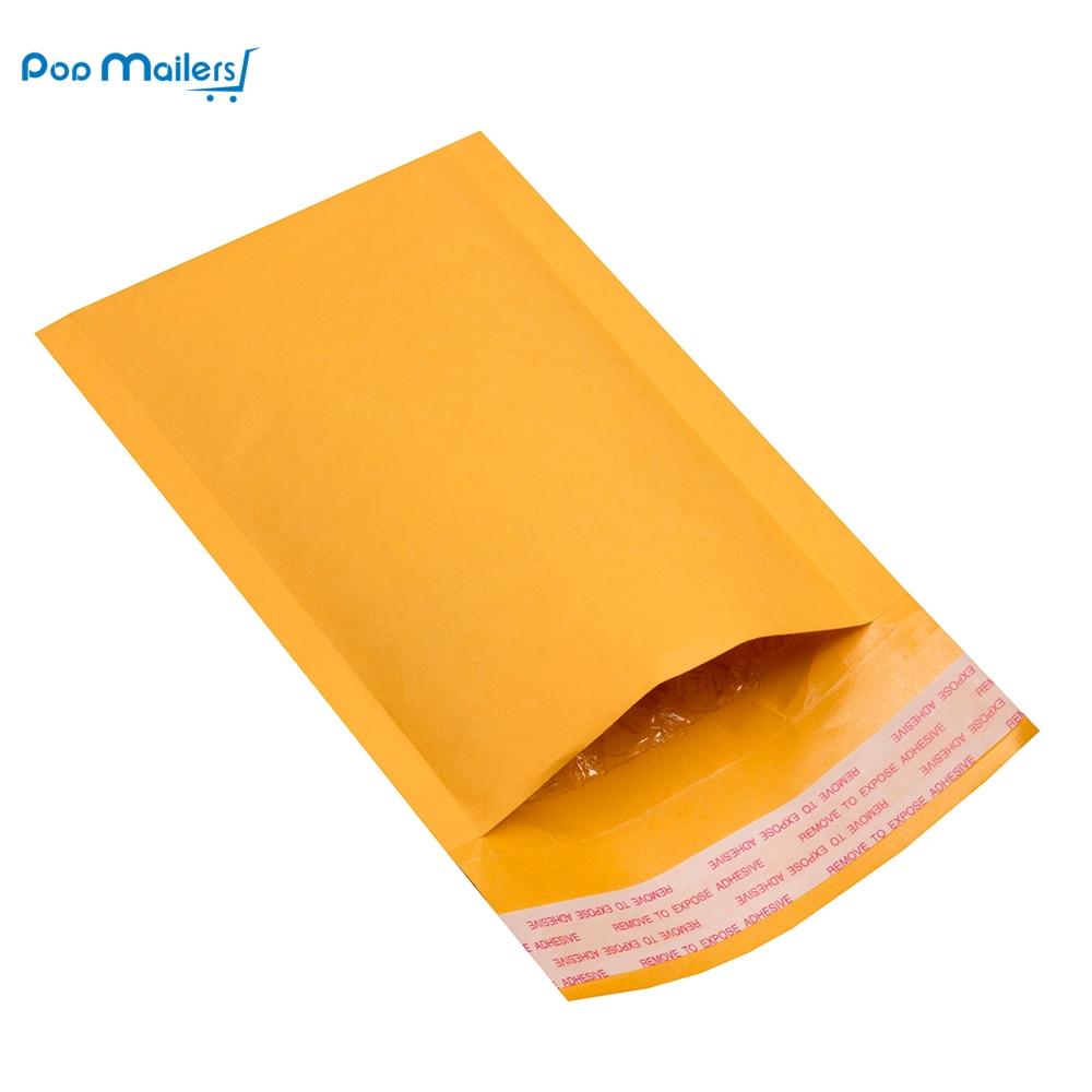 10pcs #000 4x7 Inches/12x18cm Kraft Bubble Mailers Padded Envelopes