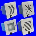 20 pçs/lote Warm White 1 W LED Wall Luzes Luzes Enterrados Luzes Embutidas Luz À Prova D' Água de 70*70mm Canto Passo a passo da escada CONDUZIU a Lâmpada