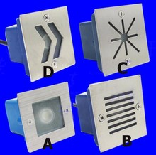 20pcs/lot Buried Lights 70*70mm Outdoor 3W Corner Lamp Light Embedded Led Stair Step Round Wall Lamp Waterproof Light