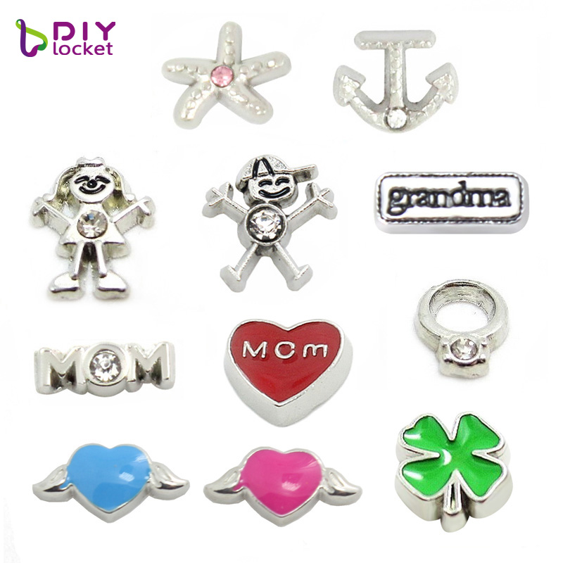 lockets wholesale accessory silver memory glass boy item charms jewelry plain floating diy living