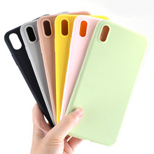 50pcs Candy Color Phone Case Simple Plain Silicone Cover For iPhone X Max XR XS 6 6S 7 7P 8Plus Soft TPU Free shipping
