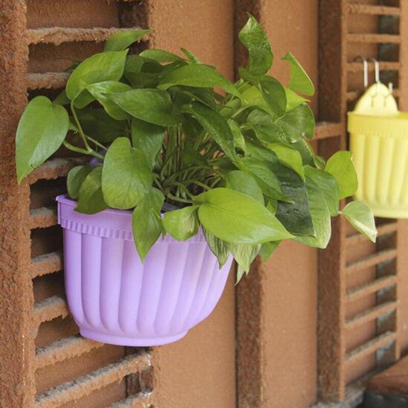 grandes flores cesta colgante de pared macetas y jardineras verde maceta de plstico maceta de jardn balcn yyy en bandejas para plantas de hogar y