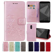 Leather Case For Xiaomi Redmi Note 4X Cases for Pro Cover Flower Design Phone Prime