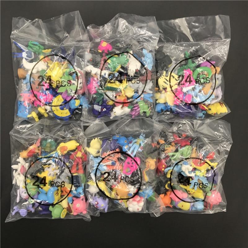 24/48/72pcs Pcs Action Figure Toys Children Birthday Christmas Gifts 2-3cm Mini  Pokemones   Anime Toy Figures For Children