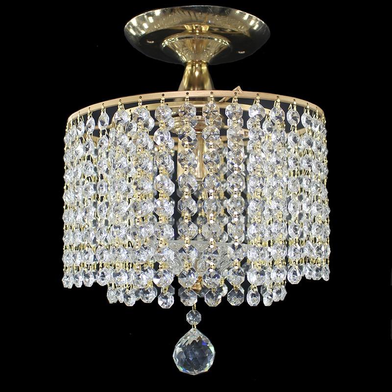 Modern retro plated crystal lustre Ceiling Lights E27 Plafonnier LED ceiling Lamp Luminaire For Living Room Innrech Market.com