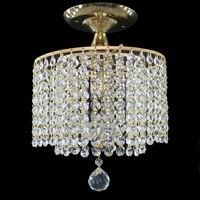 Nowoczesne retro plated crystal lustre lampy sufitowe E27 Plafonnier LED lampa sufitowa oprawa do salonu sypialnia hotel hall w Oświetlenie sufitowe od Lampy i oświetlenie na