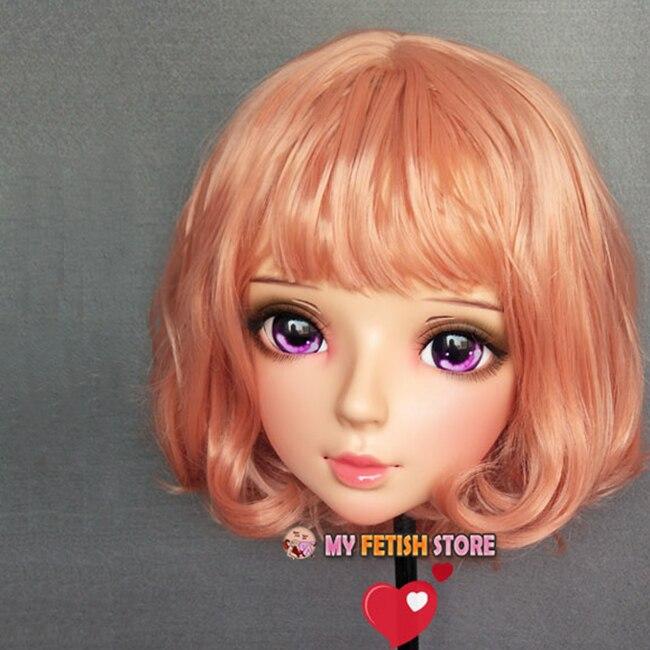 (Shi-07) feminino doce menina resina meia cabeça