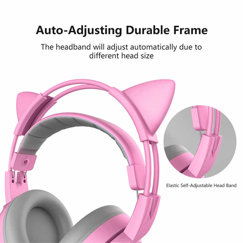 138e493c17d ... SOMIC G951S Kids PS4 Gaming Headset casque Pink Girls Cat Ear PC Stereo  Headset with Microphone ...