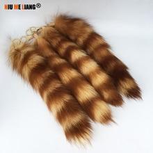 Cute Fox Racoon Tail Keychain Fur Pendant Key Chain Women fd22cb2126
