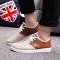 Мужчины весной и летом случайные плоские туфли мужские случайные серый зашнуровать обувь досуг мужской дышащий удобную обувь