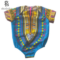 2017 African Fashion Batik Wax Dashiki Printing Pure Cotton Jumpsuits Kid Clothes T Shirt Children S