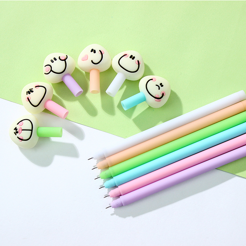 цена на 24 pcs/Lot Rice roll gel-ink pens Cute smile lapices gel pen Stationery Office material School supplies Canetas escolar