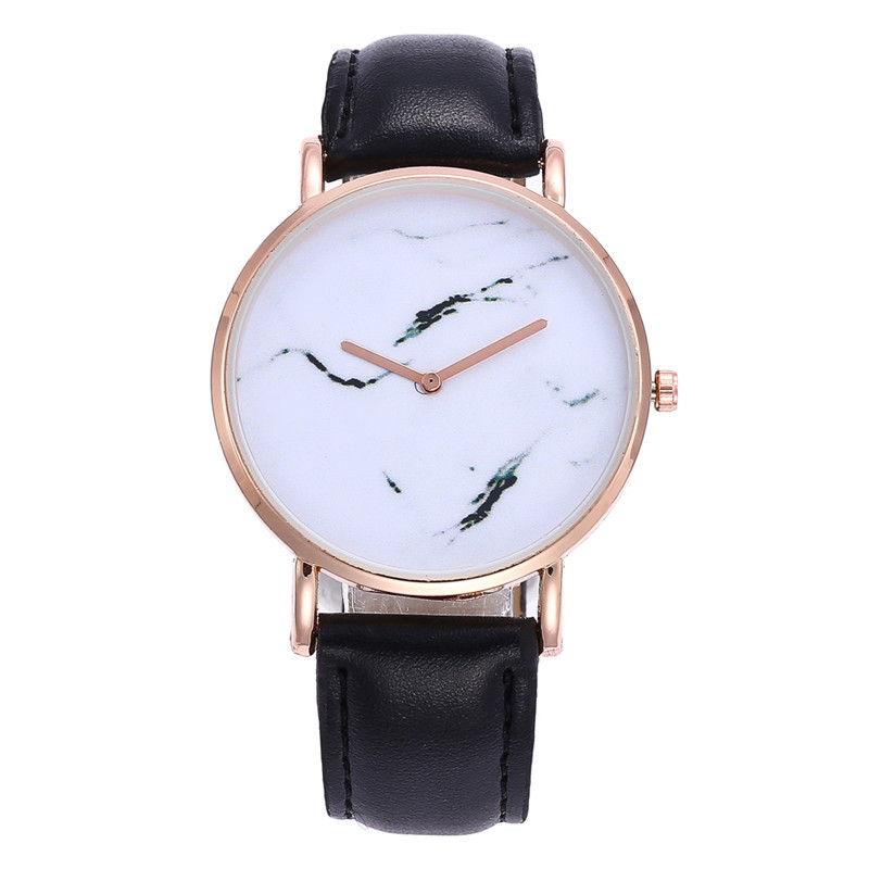 LASPERAL Ins Style Leather Womens Watch Marble Simple Wristwatch Outfit Sport Quartz Watch Female Hour Clock Minimalism