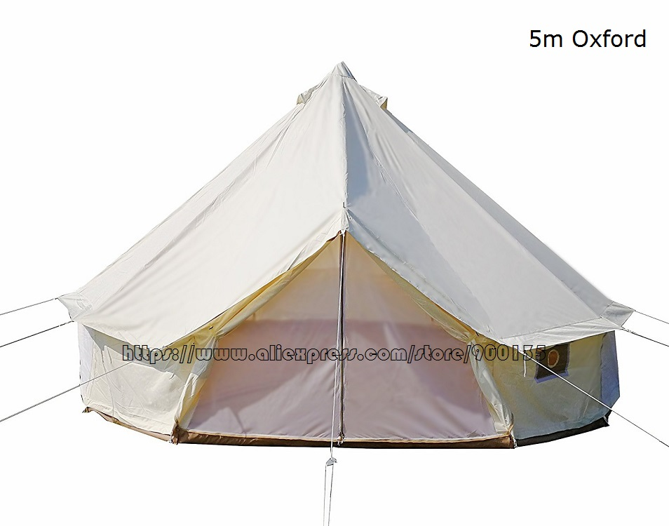 Diameter 5m Waterproof Bell Tent Outdoor Sibley Gl&ing Tent with Chimney Hole-in Tents from Sports u0026 Entertainment on Aliexpress.com | Alibaba Group  sc 1 st  AliExpress.com & Diameter 5m Waterproof Bell Tent Outdoor Sibley Glamping Tent with ...