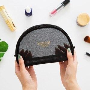Image 3 - Beknopte Toiletten Crystal Box Zwart Roze Grid Make Up Cosmetische Organizer Mini Size Trompettist Draagbare Reizen Accepteren Zak Pakket